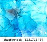 alcohol ink sea texture. fluid... | Shutterstock . vector #1231718434