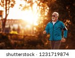 active senior runner jogging in ... | Shutterstock . vector #1231719874