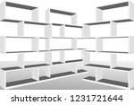 vector bookshelves  | Shutterstock .eps vector #1231721644