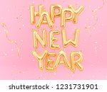 happy new year gold text on... | Shutterstock . vector #1231731901