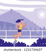 woman runner icon | Shutterstock .eps vector #1231734637