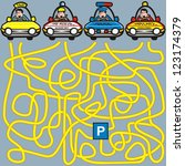cars labyrinth | Shutterstock .eps vector #123174379