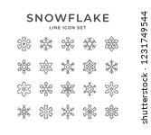 set line icons of snowflake... | Shutterstock . vector #1231749544