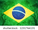 brazilian flag vector...   Shutterstock .eps vector #1231766131