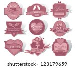 love and romance label... | Shutterstock .eps vector #123179659
