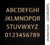 star sparkle golden alphabet... | Shutterstock .eps vector #1231803091