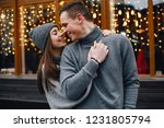 loving and stylish couple in a... | Shutterstock . vector #1231805794