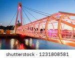 pedestrian bridge in ustka.... | Shutterstock . vector #1231808581