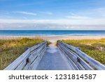 wood  walkway to a gulf of... | Shutterstock . vector #1231814587