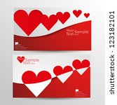 valentine's day card vector... | Shutterstock .eps vector #123182101