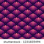 vector floral damask seamless... | Shutterstock .eps vector #1231835494