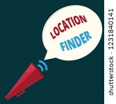 text sign showing location... | Shutterstock . vector #1231840141