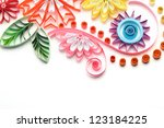 paper quilling colorful paper...   Shutterstock . vector #123184225