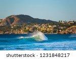 a wave breaks in front of los... | Shutterstock . vector #1231848217