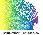 portrait beautiful african... | Shutterstock .eps vector #1231855657