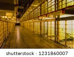 inside alcatraz prison by night ... | Shutterstock . vector #1231860007