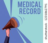 text sign showing medical... | Shutterstock . vector #1231862791