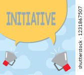 text sign showing initiative.... | Shutterstock . vector #1231867507