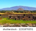 mexico  pre hispanic city of... | Shutterstock . vector #1231870351