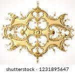 3d rendering beautiful golden...   Shutterstock . vector #1231895647