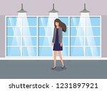 corridor building with...   Shutterstock .eps vector #1231897921