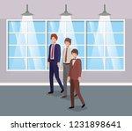 businessmen in corridor office   Shutterstock .eps vector #1231898641