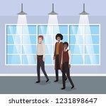 businessmen in corridor office   Shutterstock .eps vector #1231898647