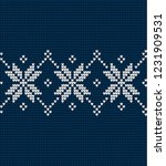 knitted christmas and new year... | Shutterstock .eps vector #1231909531