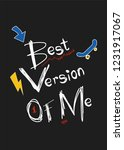 best version of me t shirt... | Shutterstock .eps vector #1231917067