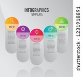 infographics template with 5... | Shutterstock .eps vector #1231918891