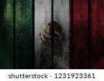 wood mexico flag | Shutterstock . vector #1231923361