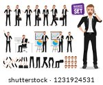 businessman vector character... | Shutterstock .eps vector #1231924531