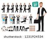 business man vector character...   Shutterstock .eps vector #1231924534