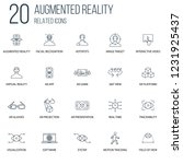 set of 20 augmented reality...