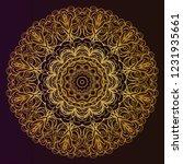 sacred oriental mandala. color... | Shutterstock .eps vector #1231935661