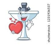 with heart on bath room cartoon ... | Shutterstock .eps vector #1231936537