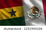 ghana and mexico   3d... | Shutterstock . vector #1231943104