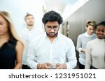 handsome man doesn't notice...   Shutterstock . vector #1231951021