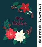 merry christmas greeting card.... | Shutterstock .eps vector #1231952521