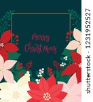 merry christmas greeting card.... | Shutterstock .eps vector #1231952527