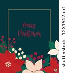 merry christmas greeting card.... | Shutterstock .eps vector #1231952551