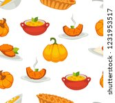 delicious pumpkin dishes for... | Shutterstock .eps vector #1231953517
