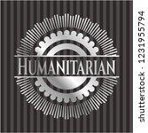 humanitarian silvery emblem | Shutterstock .eps vector #1231955794