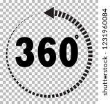 360 degrees icon on transparent ...