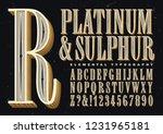platinum   sulphur is an... | Shutterstock .eps vector #1231965181