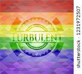 turbulent emblem on mosaic... | Shutterstock .eps vector #1231972507
