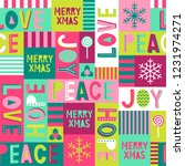 cute typography and christmas... | Shutterstock .eps vector #1231974271