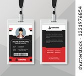 creative red and black id card... | Shutterstock .eps vector #1231976854