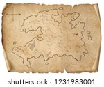 treasure medieval map isolated... | Shutterstock . vector #1231983001