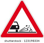traffic sign grit | Shutterstock .eps vector #123198334